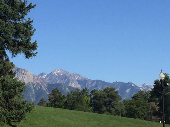 The mountain views are gorgeous.