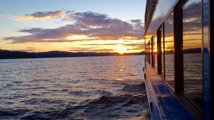 20. Take a sunset dinner cruise on one of North Idaho's stunning lakes.