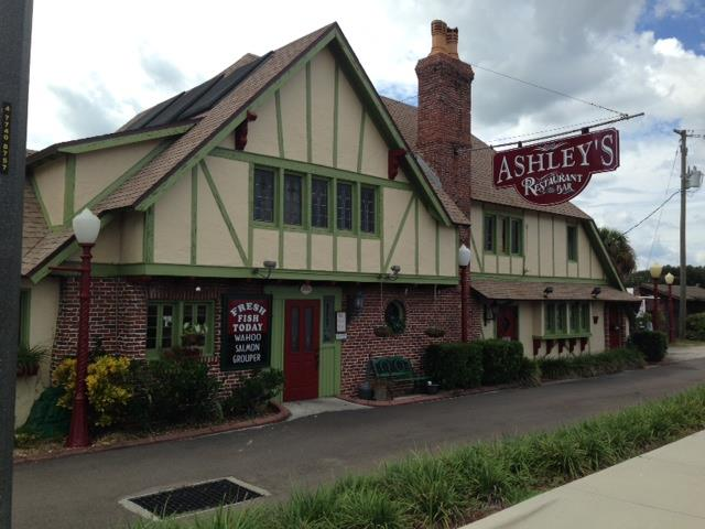 The history of Ashley's Restaurant goes all the way back to the early 1930s, when it was called Jack's Tavern. The Tudor-style building decorated with dark wood and stained glass gives Ashley's the feel of an old English pub. Ashley's has had several owners and names over the years, memorable ones including The Mad Duchess and The Loose Caboose.