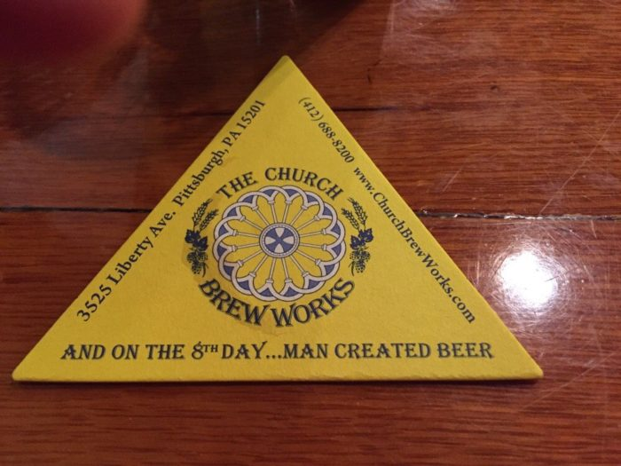 The Church Brew Works also features a Gluten-Free Menu and a Kids' Menu.