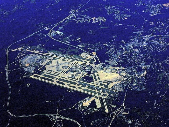 1. The Pittsburgh International Airport: A beautiful view before landing.