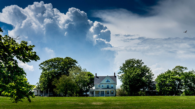 11. Breathtaking clouds roll in over a rural home in Newport.