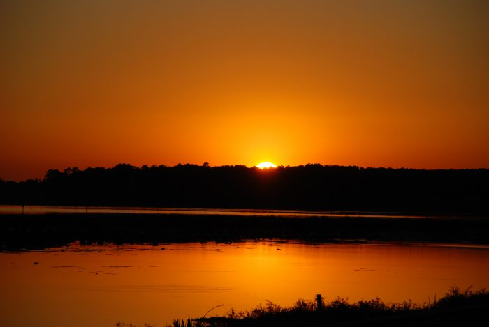 At the end of a long day of relaxation and exploration, you'll enjoy a beautiful sunset over the lake.
