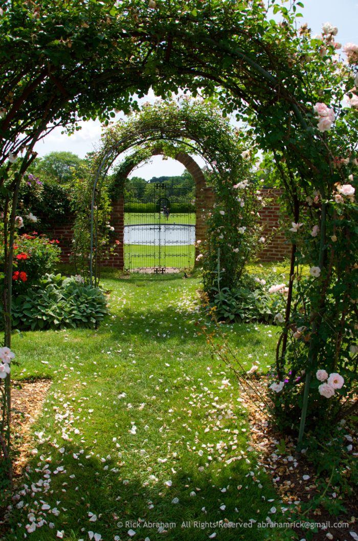 You can walk through enchanting archways that are perfectly entangled with blooming vines.