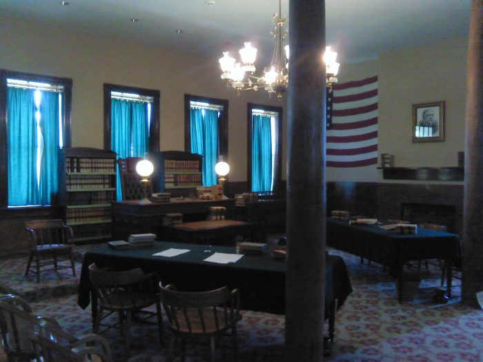 There you'll find a period-appropriate imagining of the original jail and an authentic reconstruction of Judge Parker's courtroom.
