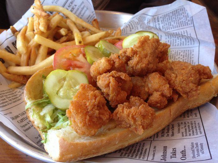 7) Where else can you get a fried shrimp po-boy?