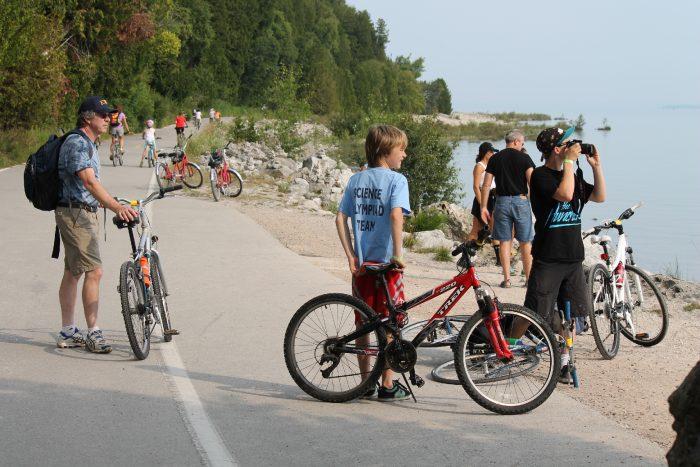 2. Biking around Mackinac Island