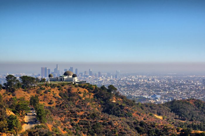 6. The Griffith Observatory is a treasure in Los Angeles that provides sweeping views of the surrounding area.