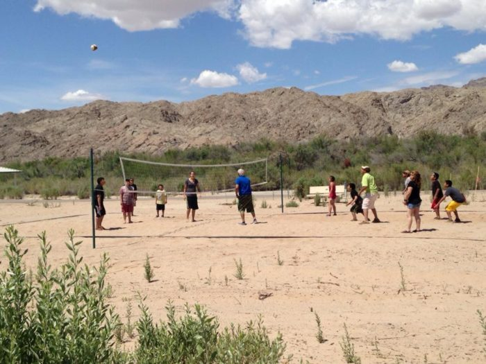 Beach volleyball is a hit here too.
