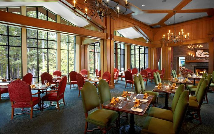 One of the four a la carte restaurants at the resort.