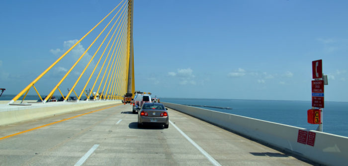 Emergency phones installed on the bridge: