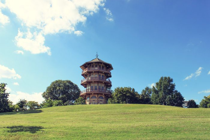 Built in 1891, this structure used to be called the Patterson Park Observatory.