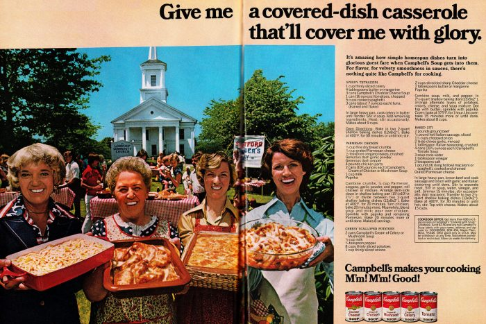 9. This 1977 Campbell's ad was taken at the Lordship Community Church in Stratford.