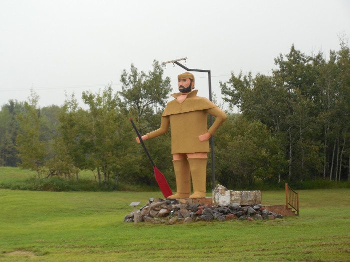 4. Pierre, the voyageur with no pants, is enough to shock any North Shore visitor along 61 if they take a closer look. We promise he won't offend anyone - he's just a reminder that clothing trends are always changing... thankfully.