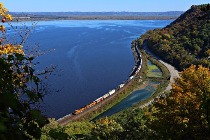 6. Hiking by Maple Springs, near the campground, will yield unreal views of the Mississippi's Lake Pepin, and the trails are usually deserted!