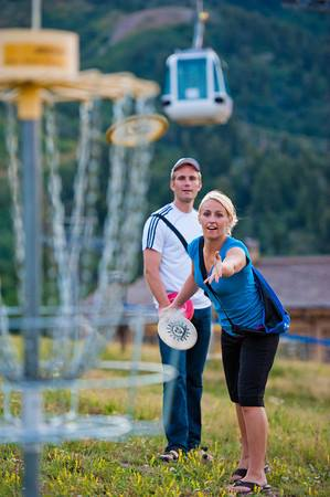 Play a round of disc golf.