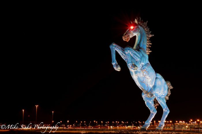3. Having to drive by Blucifer in the dead of night.