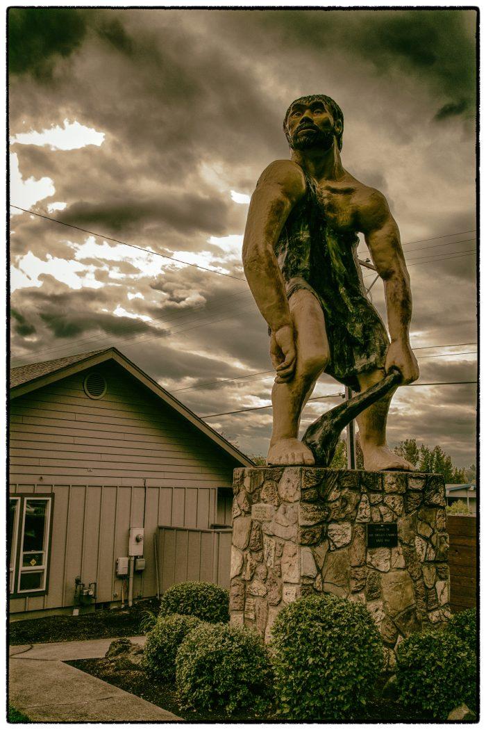 4. Caveman sculpture, Grants Pass