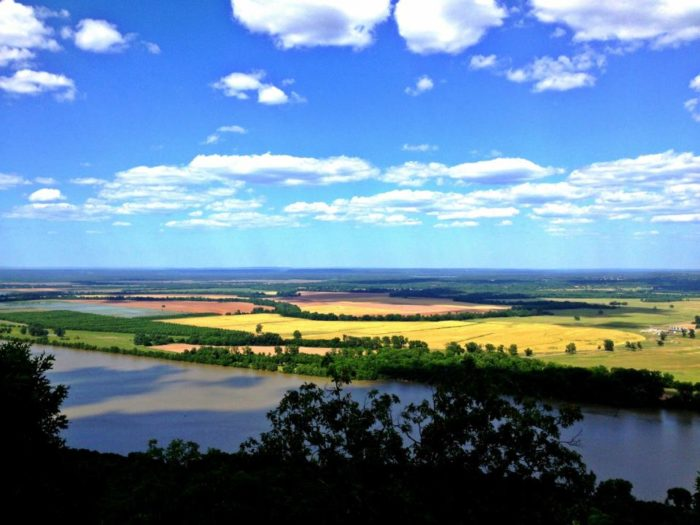12. It's the perfect place to look out over the Arkansas River Valley.