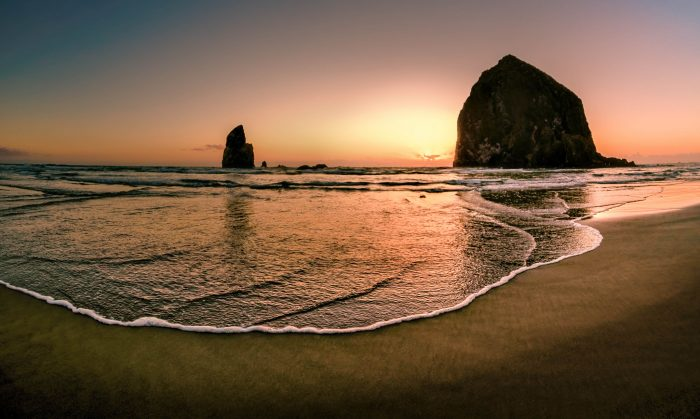 6. Relax at the wonderful Cannon Beach.