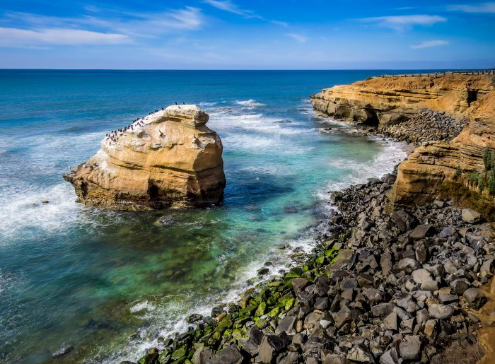 12. Sunset Cliffs in San Diego is the perfect spot to explore for an afternoon and get away from it all.