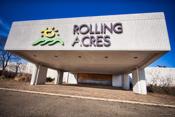 The Rolling Acres Mall in Akron, Ohio opened in 1975.