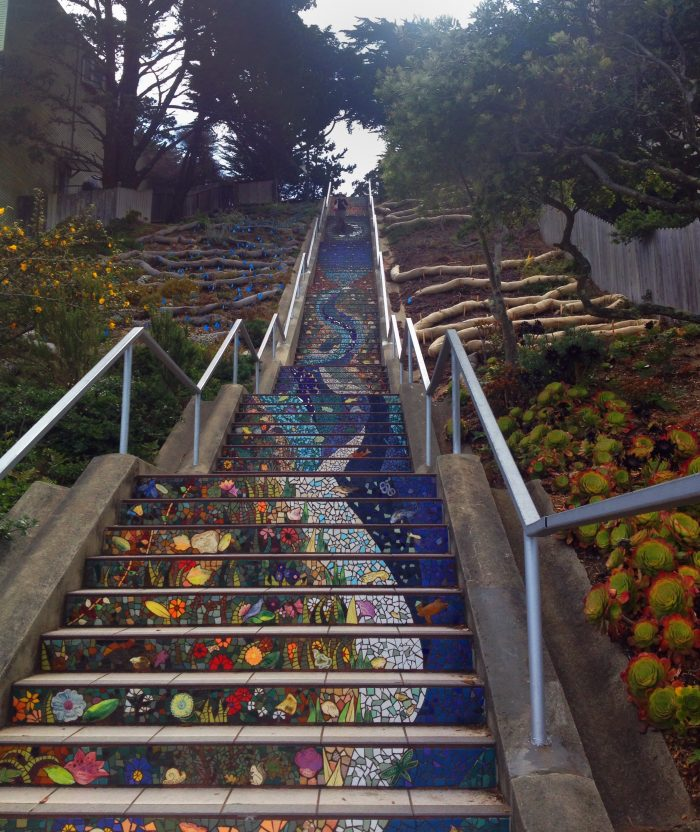 9. Climb up these magical mosaic stairs on 16th Avenue.