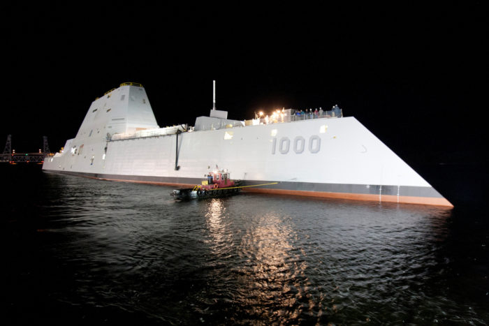 11. The USS Zumwalt, Bath