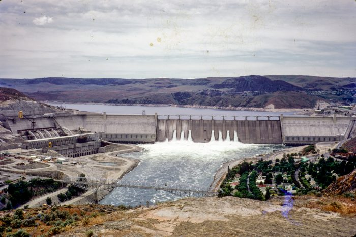 5. The Grand Coulee Dam, as seen from a nearby viewpoint.