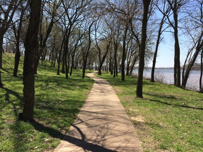 The grounds of the Fort Smith National Historic Site are beautiful and you'll find a gorgeous trail that leads you alongside the Arkansas River to the Riverfront Park Amphitheater.