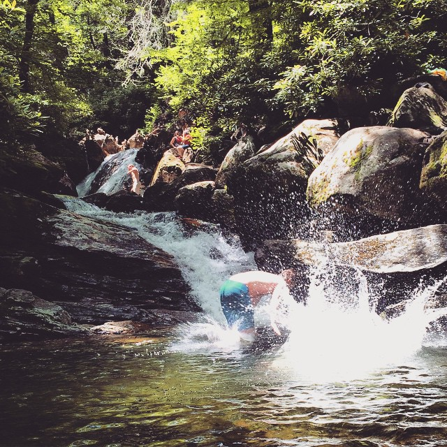 3. Take a cool dip RIGHT beside a gorgeous waterfall.