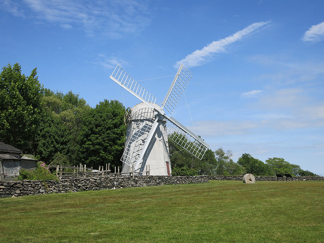 9. The old windmill in Jamestown is a rural photo taking paradise.