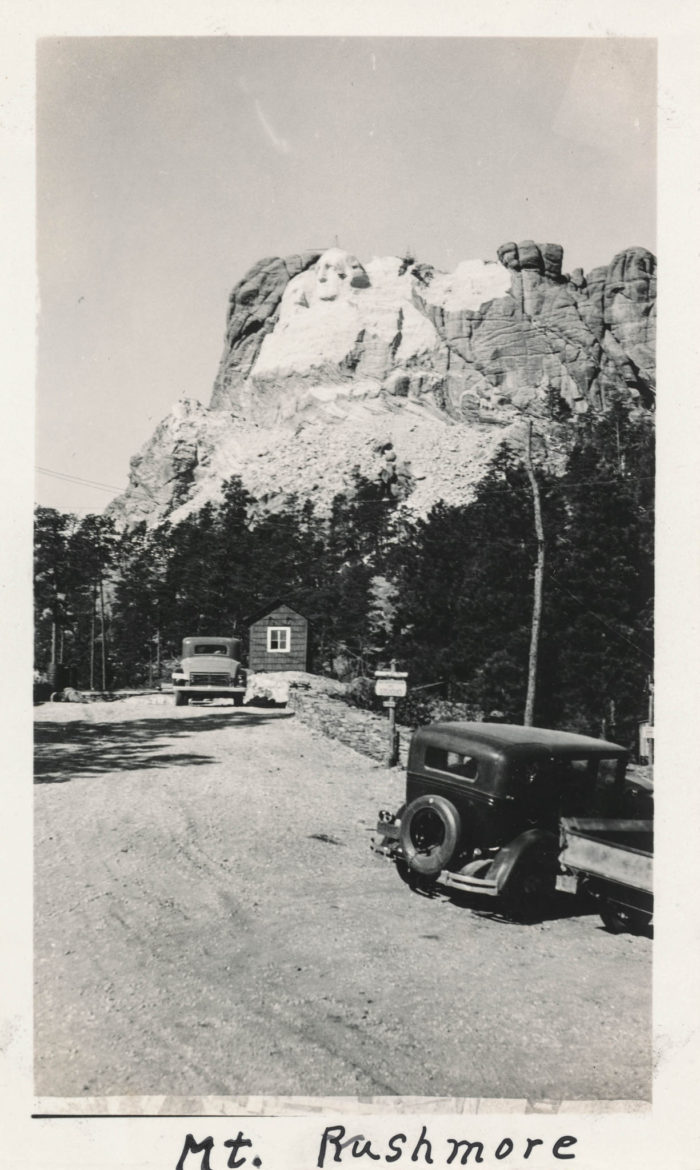 4. An incomplete Mt Rushmore, undated image