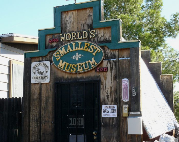 13. And, finally, there's the World's Smallest Museum located in Superior. Don't blink when driving by because you might miss it!
