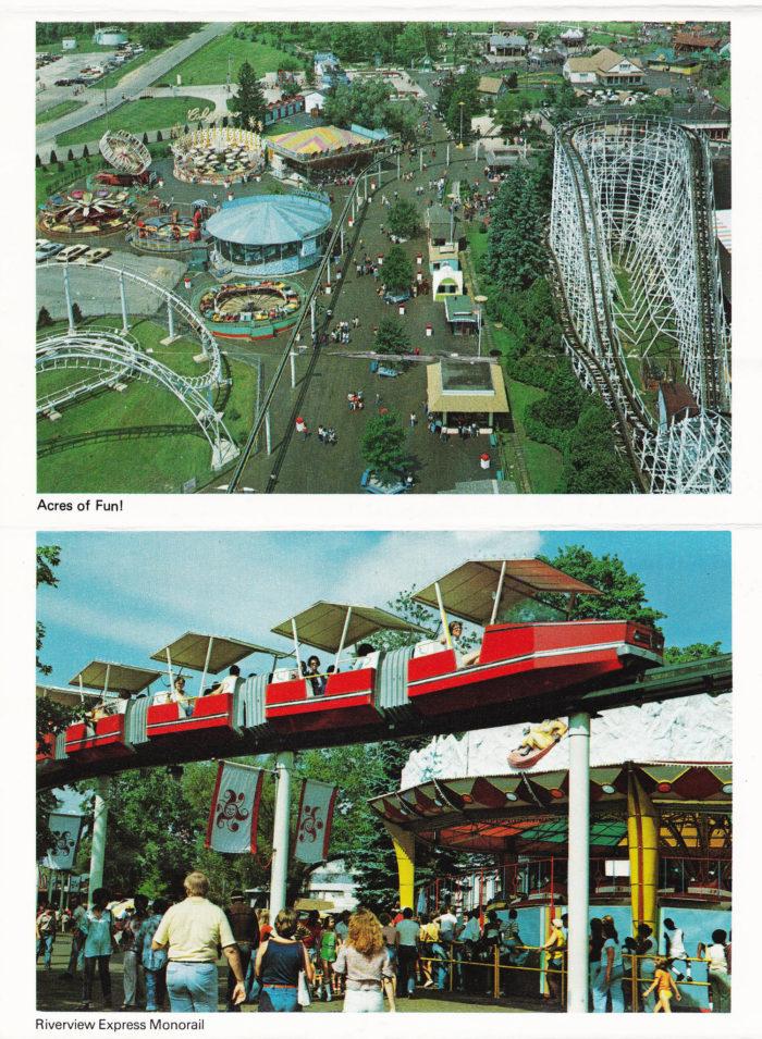 5. Geauga Lake souvenir folder photos: circa early 1980s