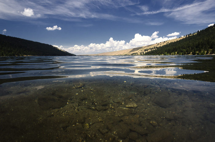 There are two beachy swimming areas where you can take dip in the lake's crystal clear water.