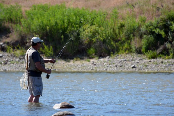 13. Experience world-class fly fishing on the North Platte River.