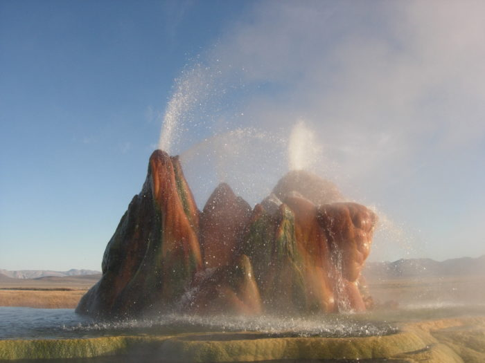 The geyser is growing.