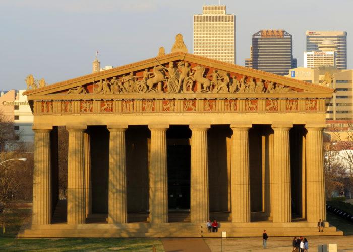 2.  The scale replica of Greece's Parthenon
