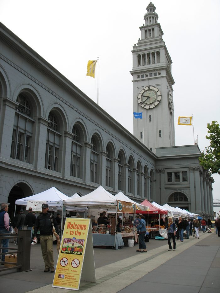 15. Eat your way through Northern California's largest farmers market every Saturday morning at the Ferry Building.