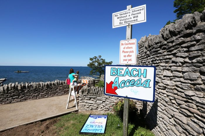 Utilize Lake Ontario and cool off during a hot summer's day on Olcott Beach!