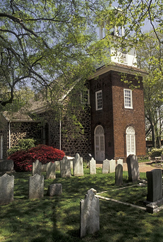 8. The bell tower, hanging trees, and graveyard make quite a picture of the past.