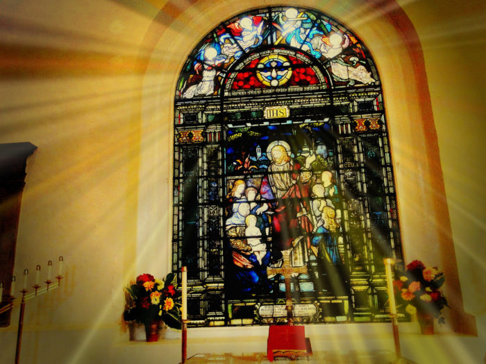 7. Inside, the attention to detail in the stained glass will leave you breathless.