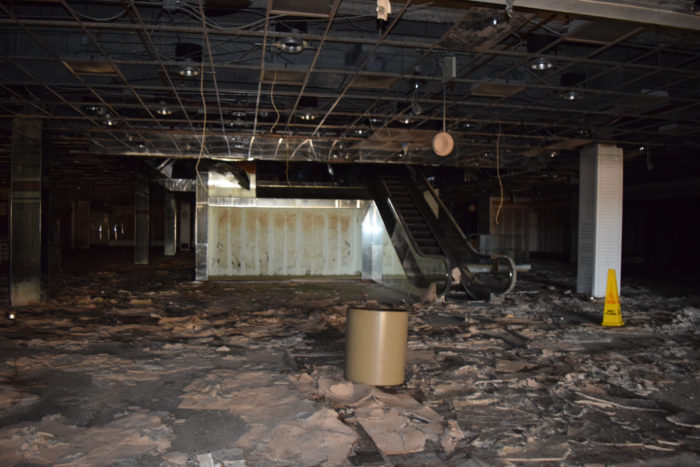 The mall closed in 2009. After the doors shut, vandals began roaming the empty structure.
