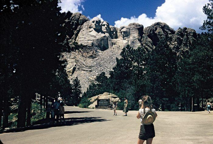 4. Tourists at Mt. Rushmore, 1956