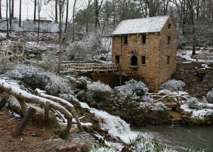 Snow-covered or surrounded by flowers, the mill is picture perfect in every season.