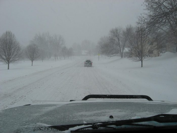 1. Someone who tackles driving in the snow as if it were no big deal.
