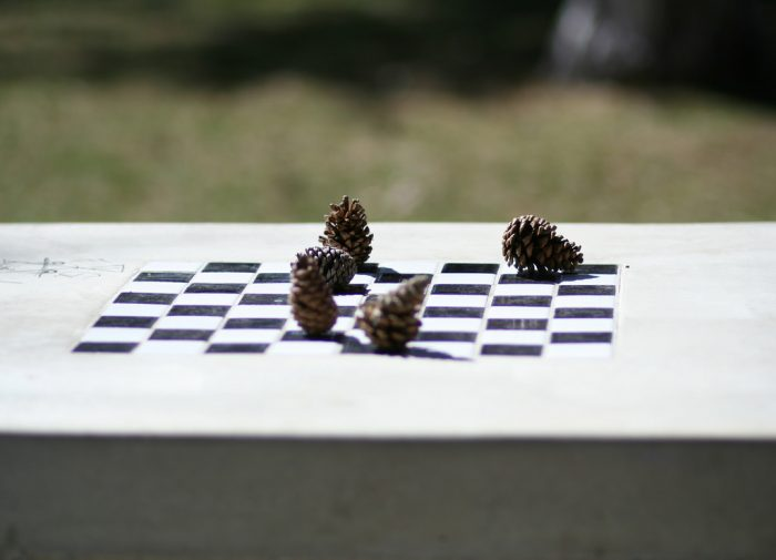 You'll find picnic tables throughout the park. Some even have built-in board games!