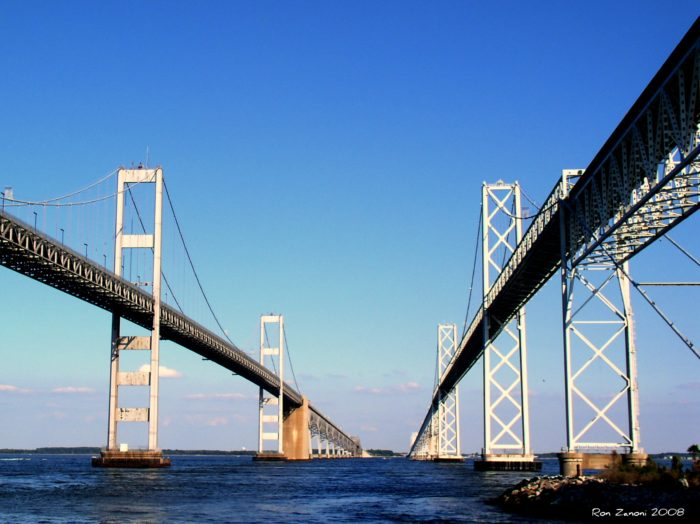 9. Drive across the infamous Chesapeake Bay Bridge.