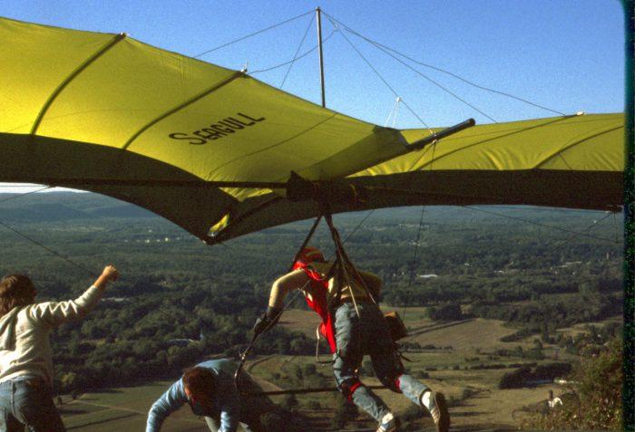 13. Some folks prepare for flight at Talcott Mountain in 1979.